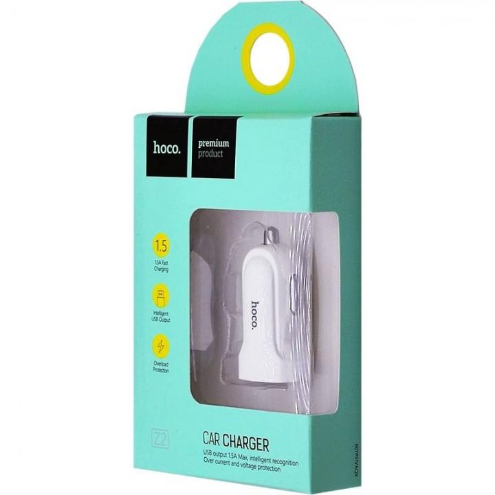HOCO avtopolnilec 1.5A + 1x USB bel