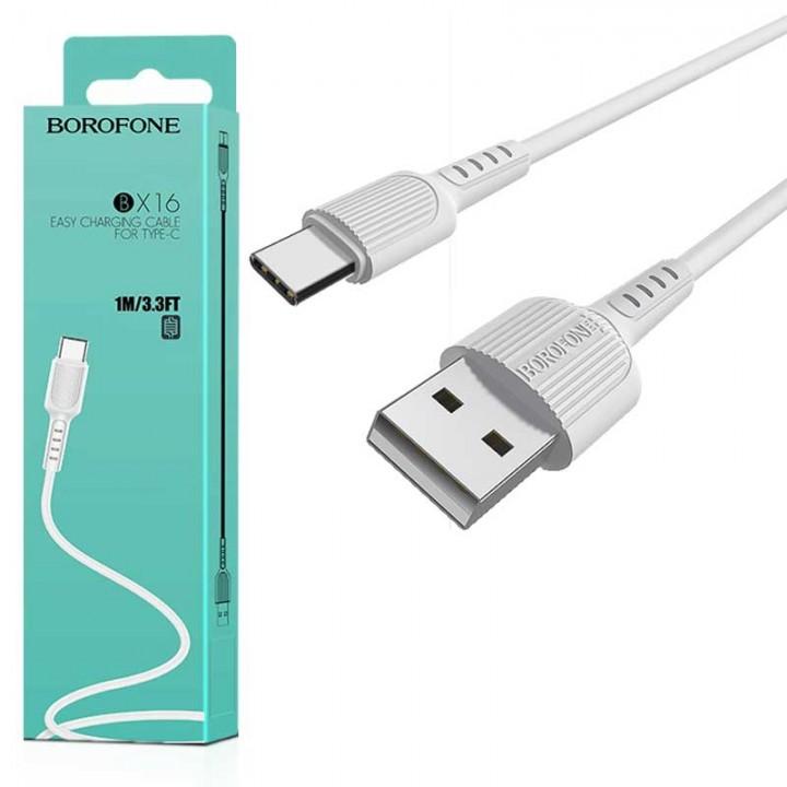 BOROFONE USB kabel Type-c 1m bel
