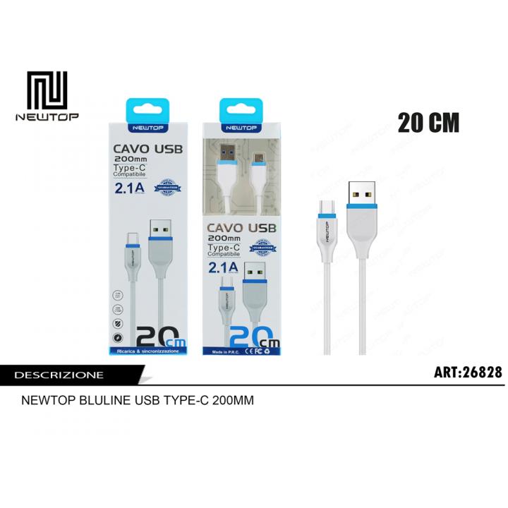 Newtop TYPE-C kabel 20cm