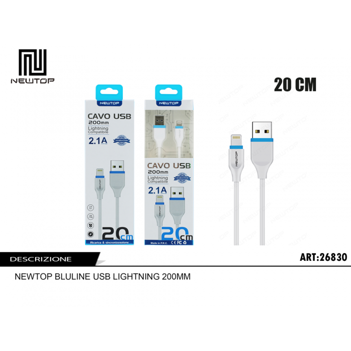 Newtop Apple lightning kabel 20cm