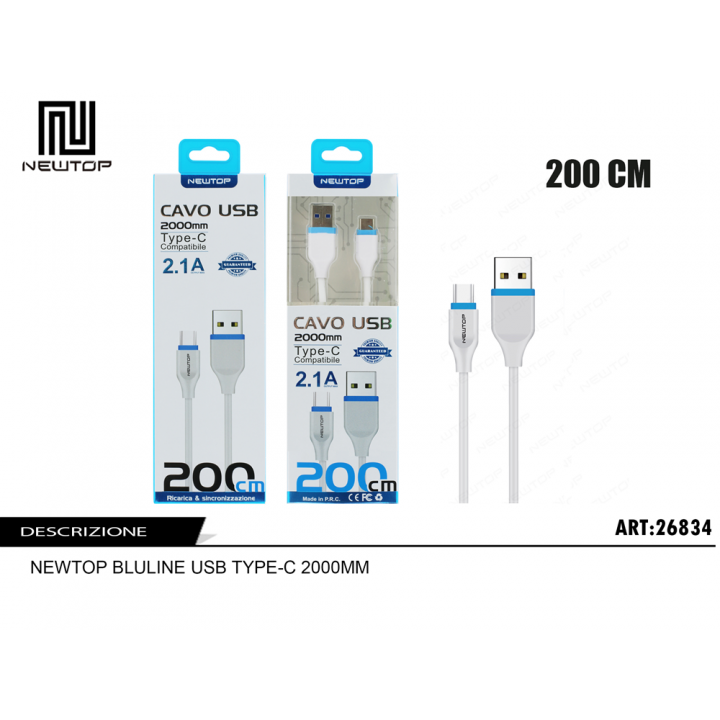 Newtop TYPE-C kabel 2m