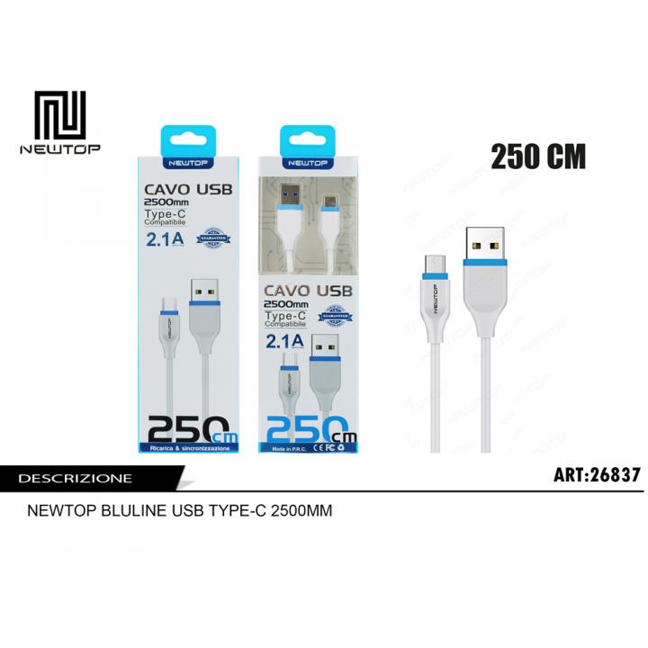 Newtop MICRO USB kabel 2,5m