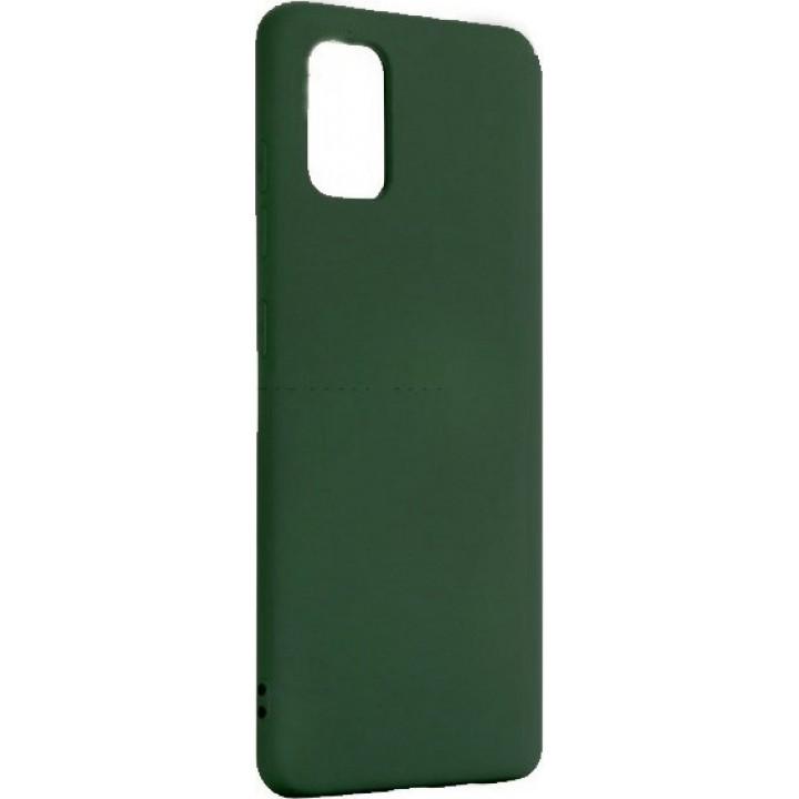 Samsung A41 silikonski ovitek/etui temno zelen