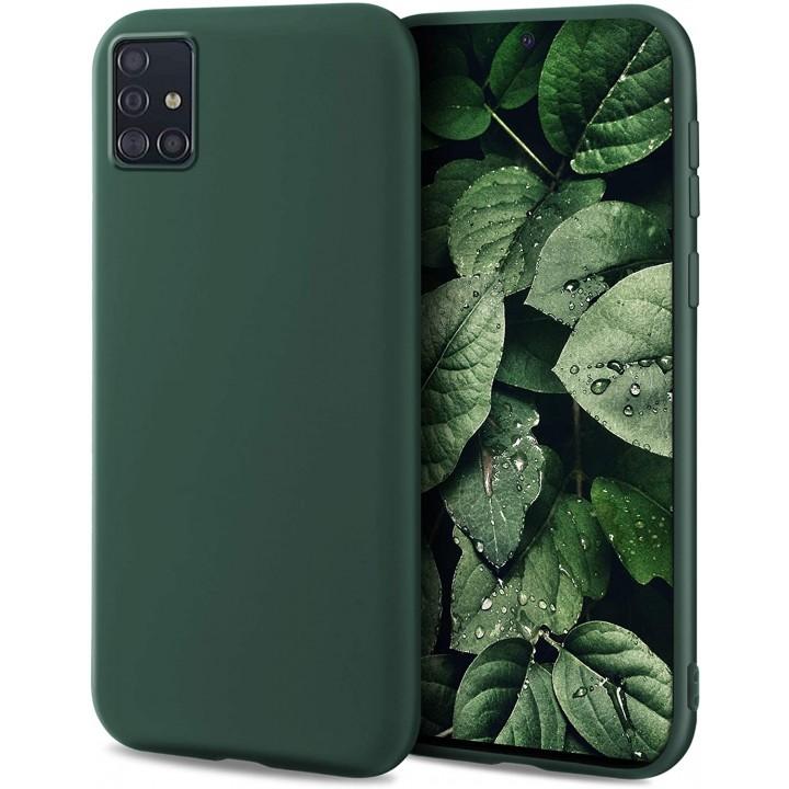 Samsung A51 silikonski etui/ovitek temno zelen