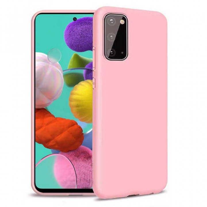 Samsung A41 silikonski ovitek/etui roza