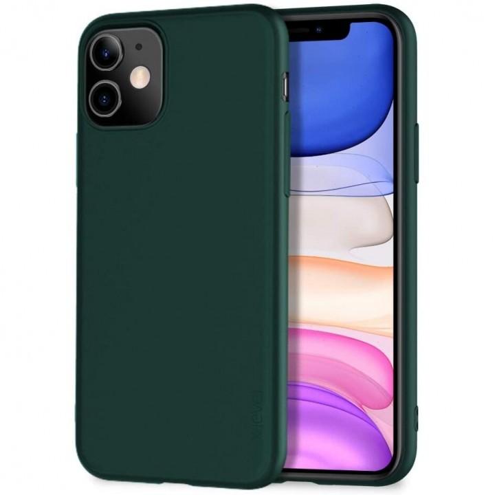 Iphone 11 Pro silikonski ovitek/etui temno zelen