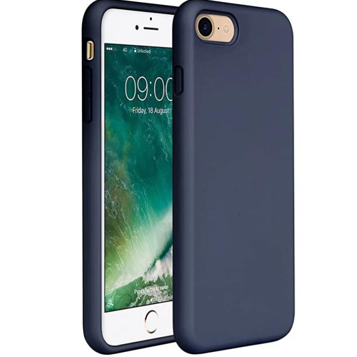 Iphone SE 2020 silikonski etui temno moder