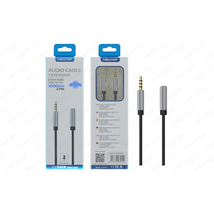 Newtop Aux kabel Audio 3.5mm 1m z mikrofonom