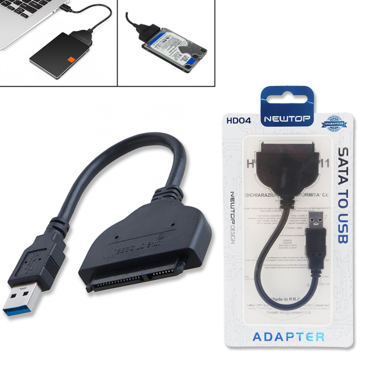 Newtop čitalec diskov kabel USB v SATA HDD