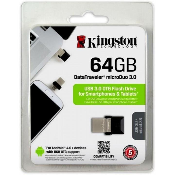 Kingston Pen drive USB 3.0 64GB DT-Micro Duo OTG