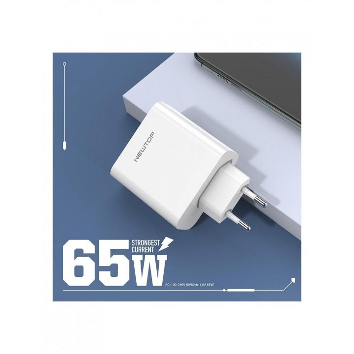 Newtop univerzalen super hiter adapter 65W Type-C vhod