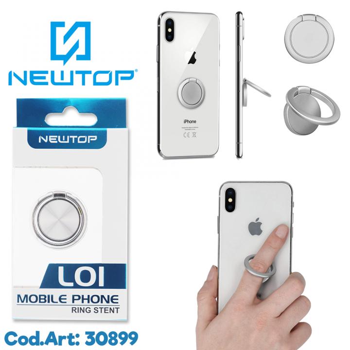 Newtop prstan za telefon srebrn