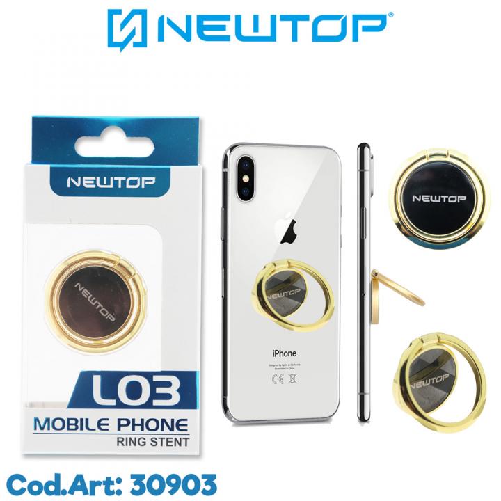 Newtop prstan za telefon zlat