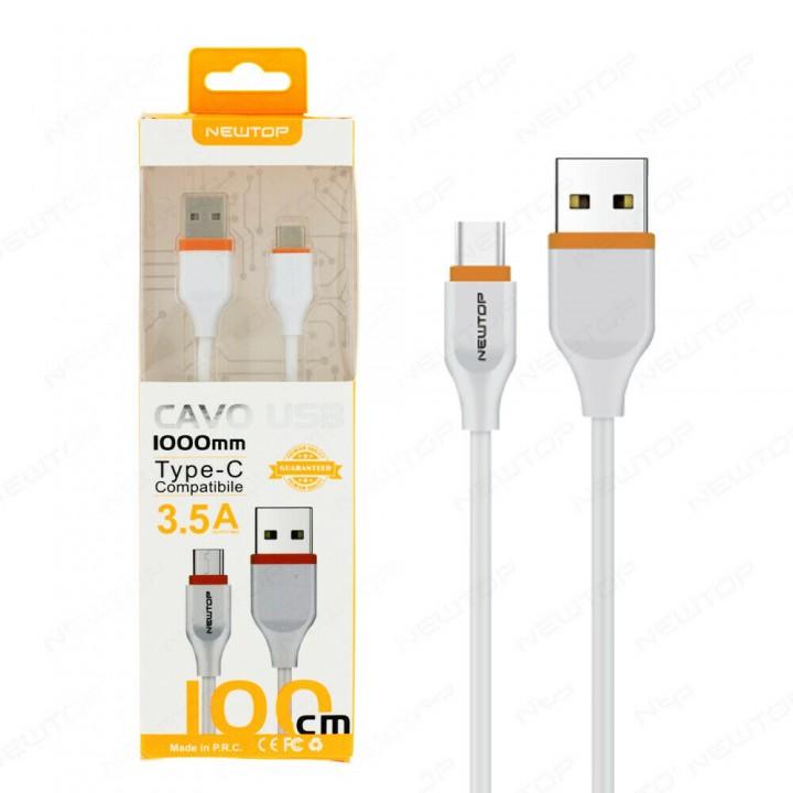 Newtop TYPE-C kabel 3.5A 1M
